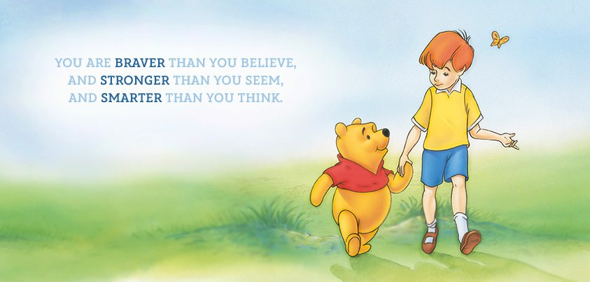 Winnie the Pooh and Christopher Robin Quote
