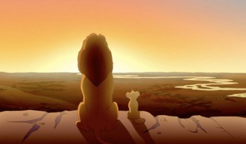 Mufasa and Simba The Lion King