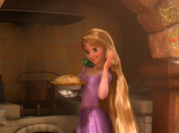 Tangled Rapunzel Baking Pie