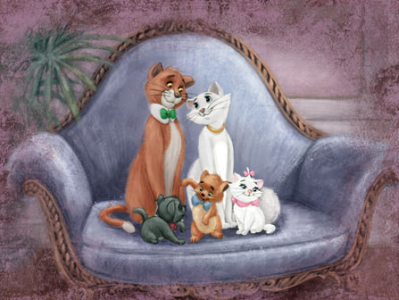 Aristocats Development Art