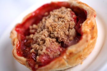 Strawberry Rhubarb Pie from Flo's Cafe