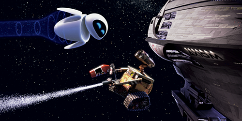 wall-e and love in space