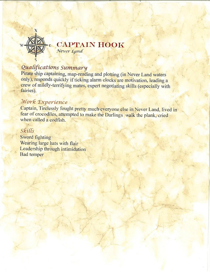 Disney villain captain hook from Peter Pan
